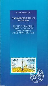 Chile 1996 Brochure Centenario Dique Seco Nº1 Talcahuano