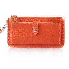 2015 Korea womens purses handbag card bag New fashion Orange color ladies wallet