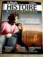 HISTOIRE & CIVILISATIONS  N° 77  - NOVEMBRE  2021  /  LES  GENIES  DE  FLORENCE