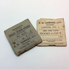 Antique / Vintage Fishing Trout Worm Hooks To Gut Packets