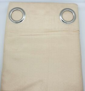 2x Faux SUEDE Eyelet Curtain in Beige Colour Light Filtering Durable Soft Modern