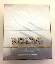 RIZLA SILVER KING SIZE SLIM ULTRA THIN BOOKLETS CIGARETTE SMOKING ROLLING PAPERS