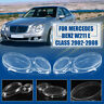 Headlight Lens Replacement Cover Left+Right For Benz W211 E350 300 200 2002-2008