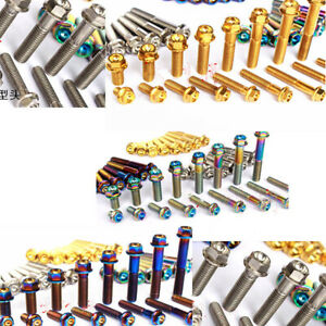 4pc M8 Titanium Bolts Screws Flange Hex Head  15/20/25/30/35/40/45/50/55/60mm