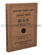 Buick Mechanical Parts Book 1941 1940 1939 1938 1937 1936 1935 Chassis Catalog