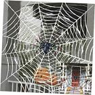 Giant Spiders Web Halloween Decorations Outdoor Yard 2 Pack Black+White Spider