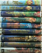 Dinosaurs The Land Before Time Volumes 1- 9 Popular Kids Series 9 VHS Video Lot