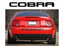 Ford Mustang Cobra 2003 2004 Piano Black Bumper Letters Insert