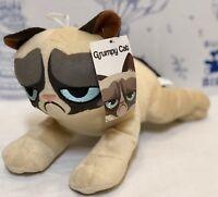 """New Grumpy Cat Plush Toy Factory Doll Kitty Kitten Stuffed Animal Laying 11"""" NWT"""