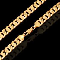 18k Goldkette Panzerkette vergoldet 60cm dicke Damen für Männer Herren Halskette