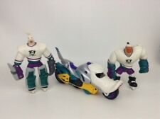 LOT (2) Disney The Mighty Ducks Action Figures w/ Motorcycle Wildwing Grin