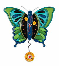 "P1372 - ""Butterfly Clock - Pendeluhr Wanduhr"" - MICHELLE ALLEN DESIGNS by ENESCO"