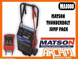 MATSON MA8000 - MATSON 12/24V THUNDERBOLT JUMP PACK - VOLTAGE BATTERY CLAMPS