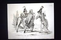 Incisione d'allegoria e satira Morte P.di Santa Rosa, Clero Don Pirlone 1851
