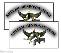 SPECIAL RESPNSE TEAM  POLICE HELMET BUMPER PACK OF 4 STICKER DECAL USA MADE