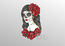 SUGAR SKULL STICKER Day of the dead decal Car Motorbike Guitar Laptop 024