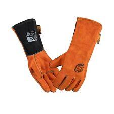 Sa Split Leather Welding Gloves Back Single Piece Full Cotton Fleece Lining