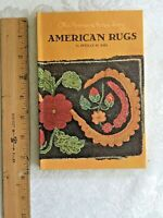 American Rugs by Estelle Ries, 1950,1st edition, Like New, American Arts Library
