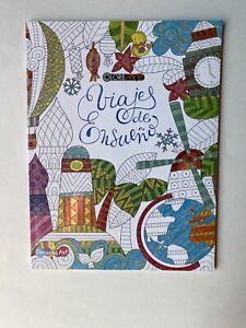 Viajes de Ensueño Therapuetic Mandala Travel Type Coloring Book