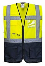 Portwest Warsaw Executive two tone hi viz Vest - C476