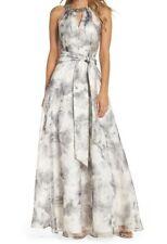Eliza J Halter Printed Ballgown - Size 10P - New - minor defect