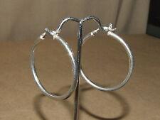 """JCM 925 Jacmel Mauritius Sterling Silver Pierced Hollow Hoop Earrings 5 gr 1.5"""""""