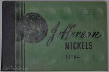 1938-1964 5c Jefferson Nickel Set in Old School Book AU-BU /N-972