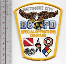 Baltimore City Fire Department Special Operations Command Fire SCUBA & Rescue