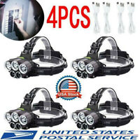 350000LM 5X T6 LED Headlamp Rechargeable Headlight Head Torch 18650 Flashlight-