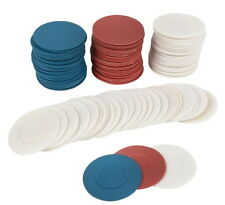 40 Plastic Poker Chips Party Favors Gift Bulk Wholesale Red White and Blue