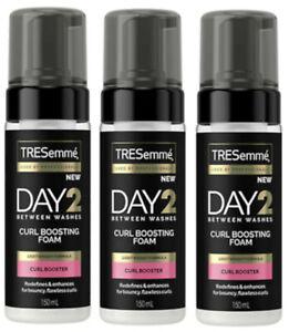 3 X Tresemme Jour 2 Entre Lavages Boucle Stimulation Mousse 150ml Chaque