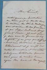 L.A.S 1854 Colonel ROUVRAY (?) > Général RENAULT Marquis de MONDRAGON lettre LAS