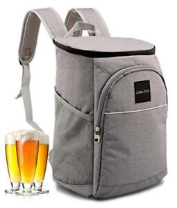 Leakproof Backpack Coolers, Soft Insulated Cooler Bag Lunch, Gray, Size  fHgs