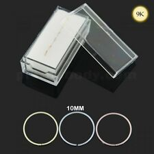 9K 10mm Solid Yellow and White Gold 22G Seamless Continuous Nose Hoop Ring Box