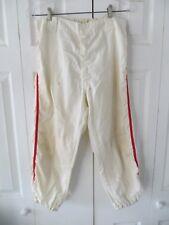 Vintage Empire Sporting Goods White Red Stripe Baseball Pants Metal Zip