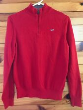 Vineyard Vines Classic 1/4 Zip Sweater Boys Red Pullover Size L 16