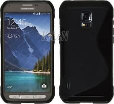 Black Soft Gel TPU Silicone Case Skin Cover For Samsung Galaxy S5 Active,G870A