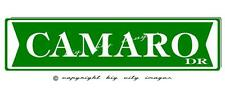 CAMARO ALUMINUM STREET SIGN , CHEVY CAMARO  Free shipping