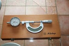 Cased Mitutoyo 107-101 micrometer 0-25mm with DTI for direct GO/NG-GO unused