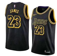 NBA Lakers LeBron James #23 City Edition Commemorative Black Mamba Jersey,sizes