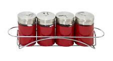 Saleros y pimenteros de color principal rojo