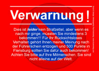 Verwarnung Notizblock A7 für Windschutzscheibe 50 Blatt rot Falschparker