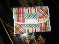 RELIC Brand  PINK Blues White Trim Patchwork ID Credit Card Wallet