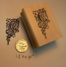 Monogram Letter C rubber stamp  WM P29
