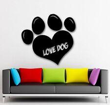 Pet Dog Paw Footprint Heart Decor Wall Mural Vinyl Sticker i001