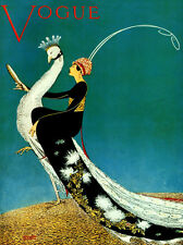 VOGUE Peacock Fashion Vintage Poster 12X16 Repro More Sizes Available FREE SHIP