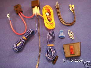 CLASSIC MINI DRIVING LIGHT RELAY PRE-WIRED ACCESSORY/ LIGHT FITTING KIT