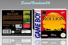 """BOITIER du jeu """"LE ROI LION"""", GAME BOY. Nintendo. PAL FR. HD. SANS LE JEU."""