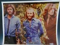 """""""The Bee Gee's"""" Group Signed 8X10 Color Photo W/ Todd Mueller COA"""