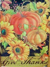"""New listing Home Yard Garden Decor - Fall Thanksgiving Welcome Flag 12"""" X18"""" Brand New"""